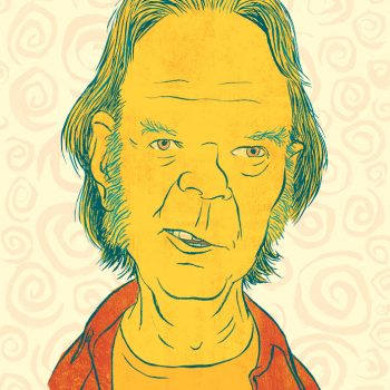 Portrait of Neil Young.