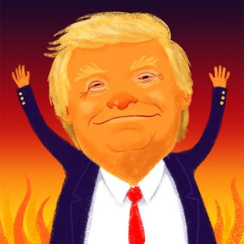 Portrait of Trump burning Rome.
