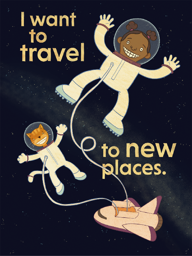 I want to travel to new places.