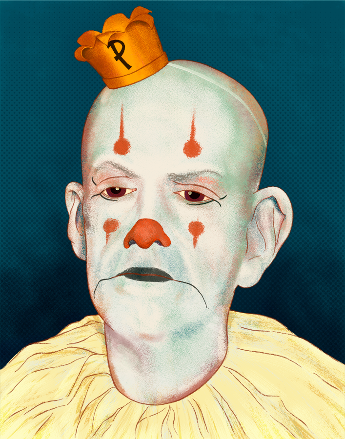 Portrait of Puddles the Clown