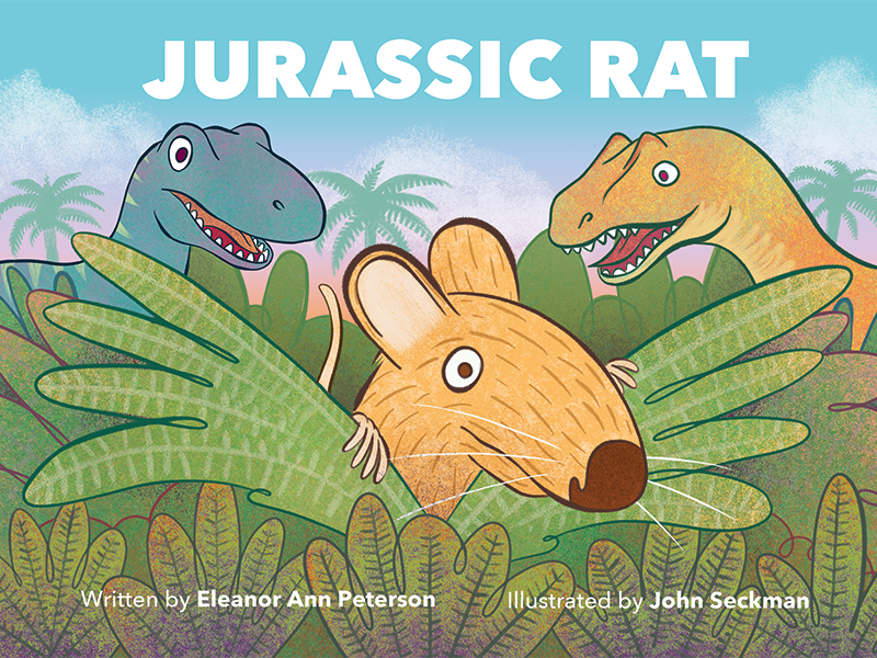 Cover image from the picture book, Jurassic Rat.